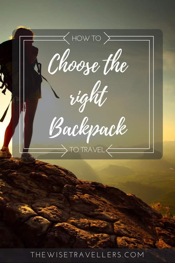 Pinterest choose the right bakcpack