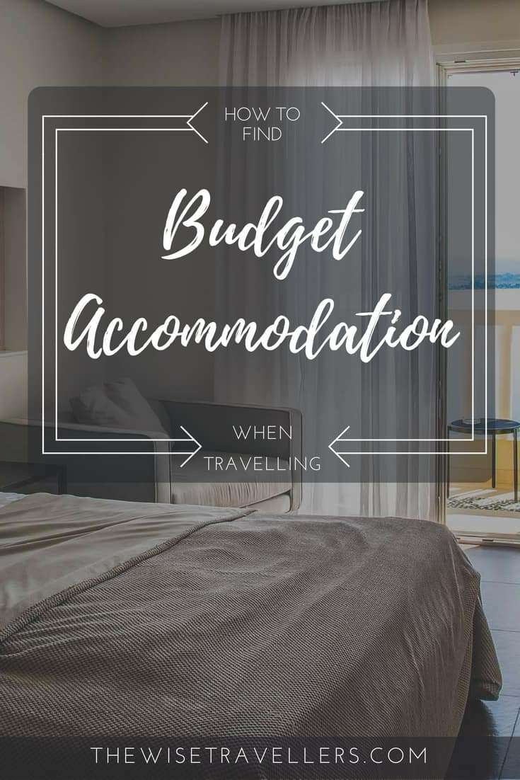 Pinterest find budget accommodation