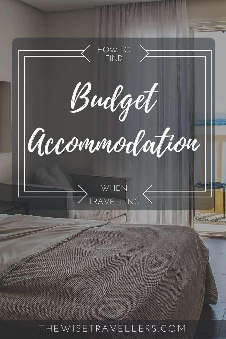 Pinterest find budget accommodation