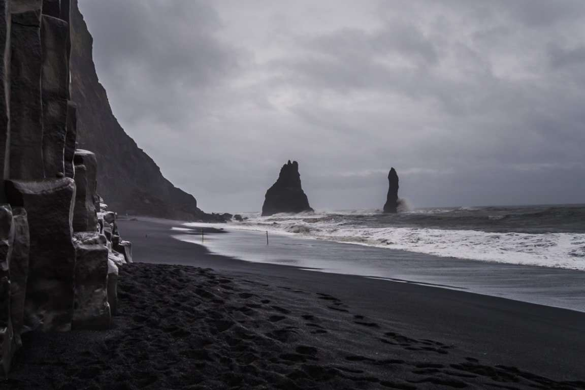 Reynisfjara beach one of the most visit places in Iceland.