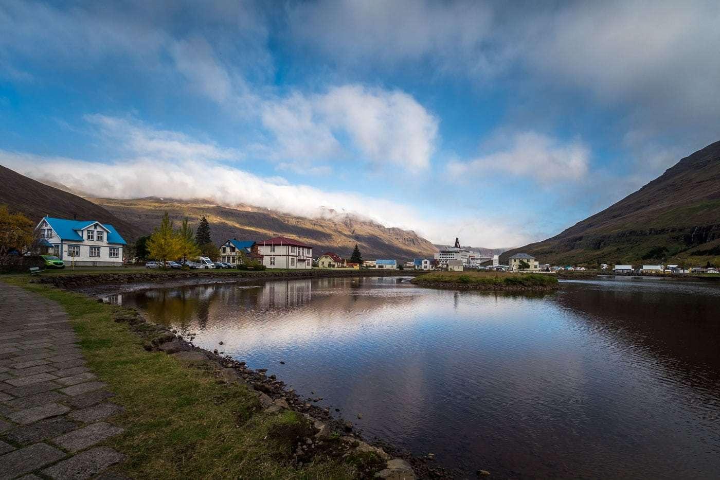 Amazing view at Seydifjordur village.
