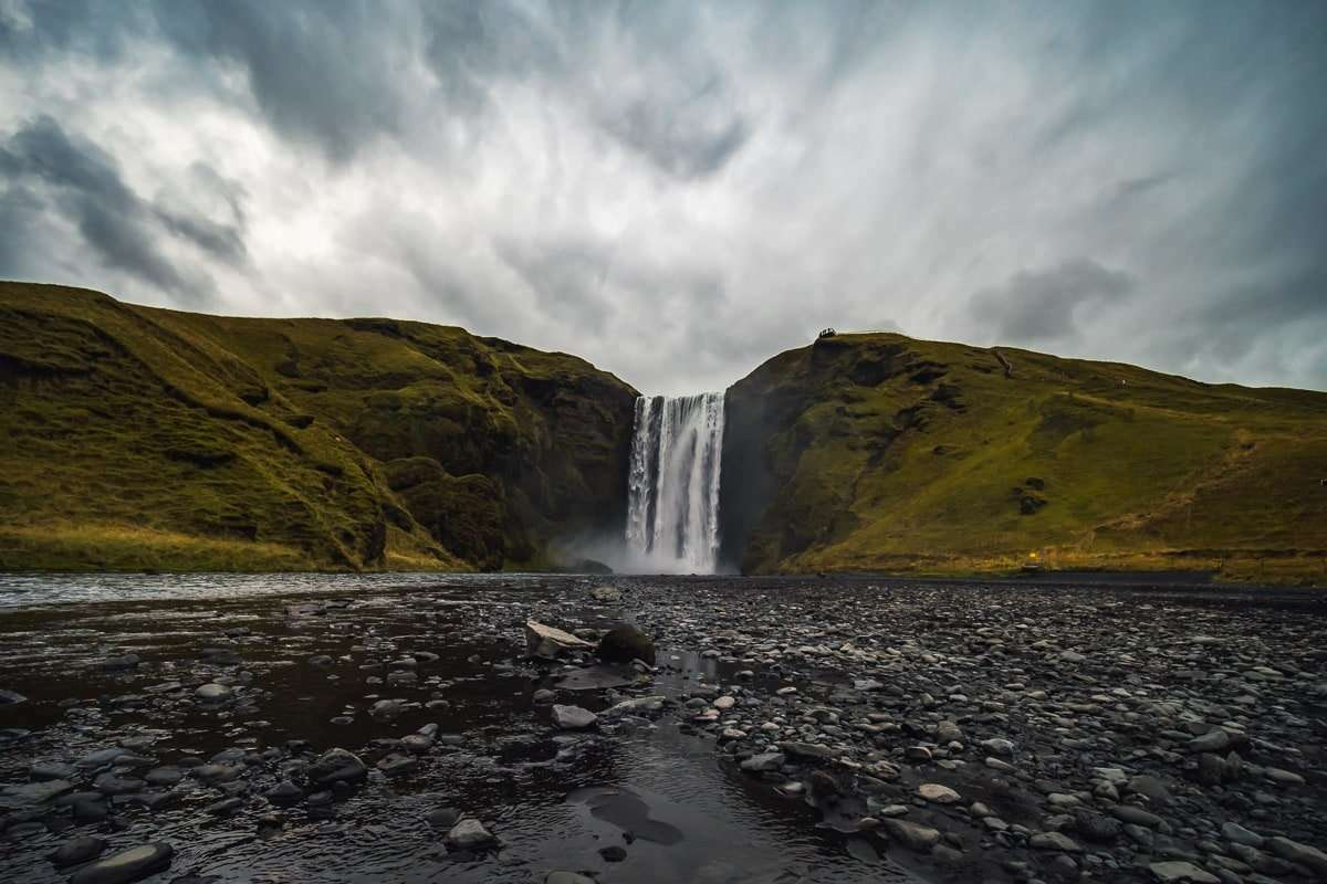 Skógafoss one of the biggest waterfalls in the country.