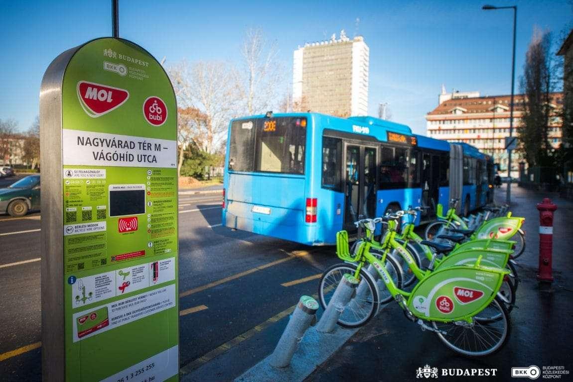 Budapeste - bicicletas partilhadas