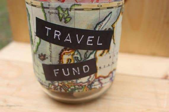 grow your travel fund jar