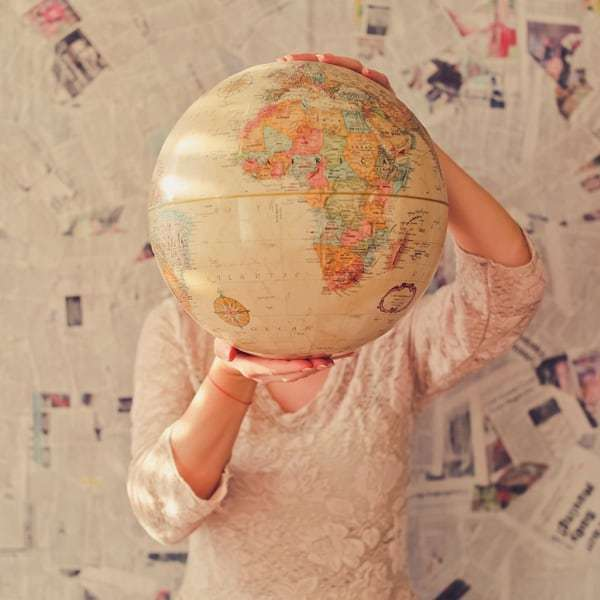 right time to travel the world globe